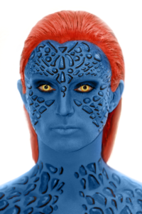 Mystique from Xmen Makeup